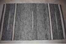 3x5 Rug Black and Grey