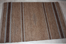 4x6 Rug Multi brown with brown and grey stripes