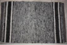 2x3 Rug Grey and Black