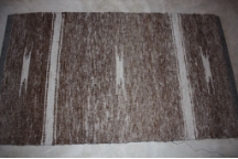 3x5 Rug Dark Brown and Multi with White