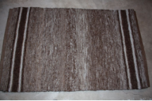 3x5 Rug Multi with Narrow Black and White Stripes