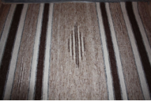 6x9 rug multi with dark and white bold stripes