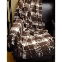 Alta Boucle' Plaid Sofa Throw