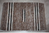 2x3 Rug Multi with Narrow Black and White Stripes