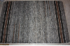 4x6 Rug Dark Grey with Black and Brown Stripes