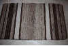 3x5 Rug Brown Multi and White with Stripes